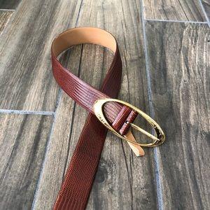 Oscar de la Renta Brown Leather Belt Size Medium